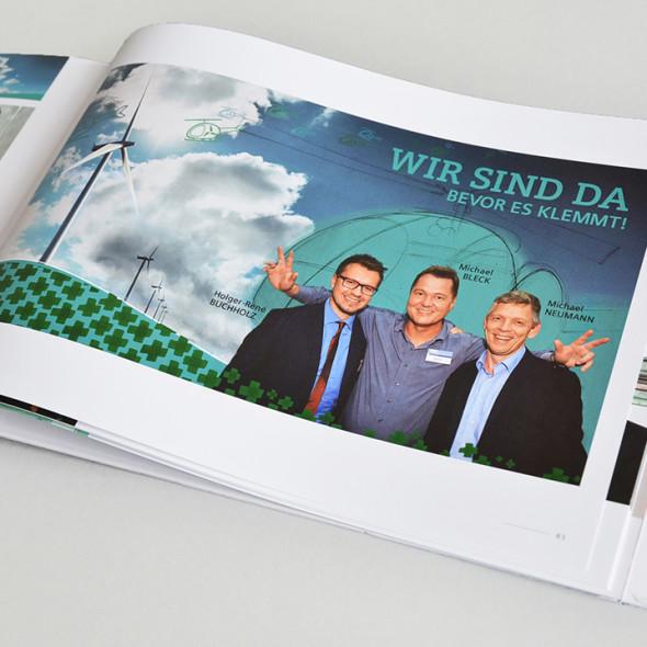 """Visual Recording: Grafik """"Wartung von Windkraftanlagen"""" beim Zukunftsdialog Berlin von Siemens"""