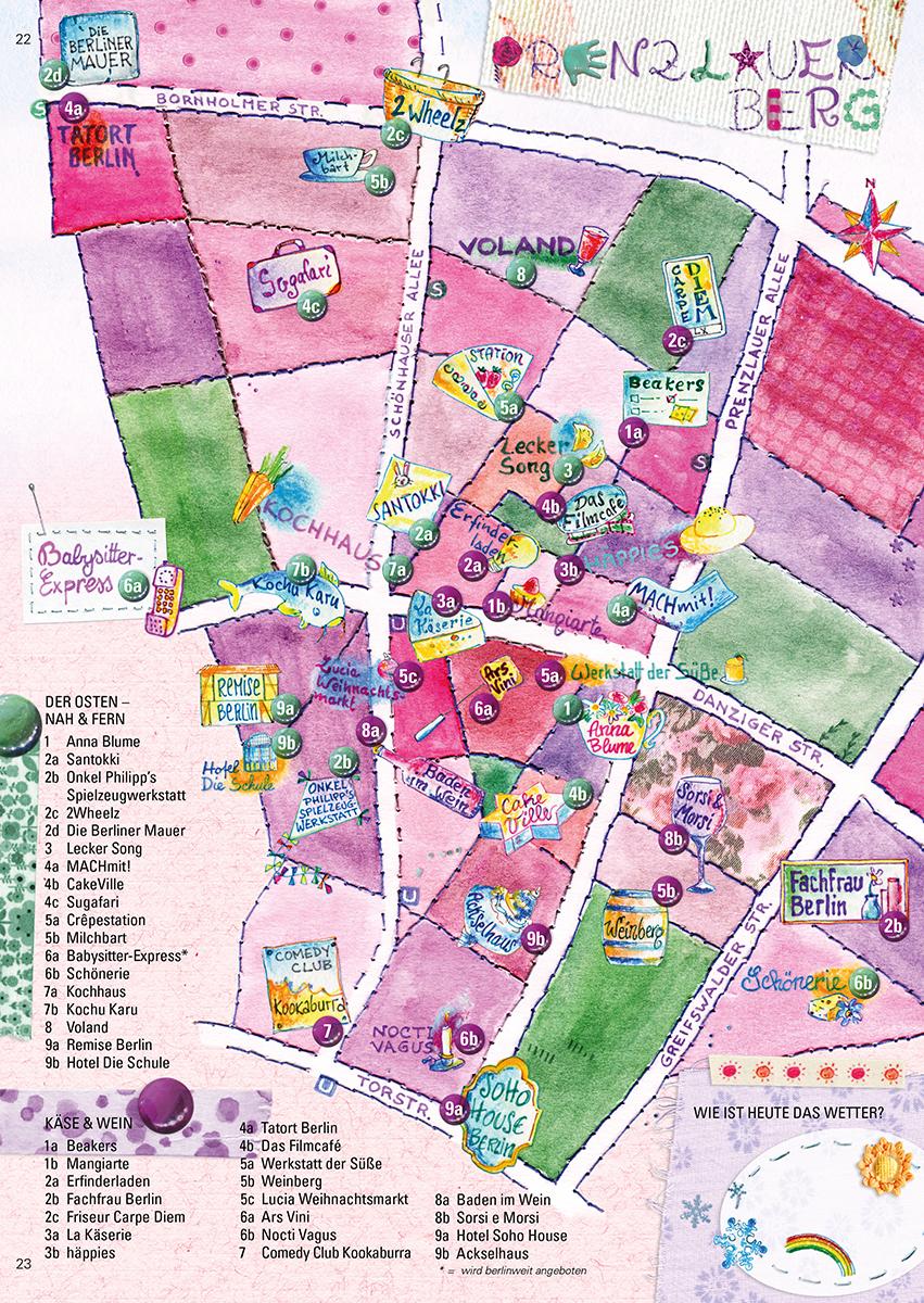 Gestrickte Karte Prenzlauer Berg Berlin Sara Contini Frank