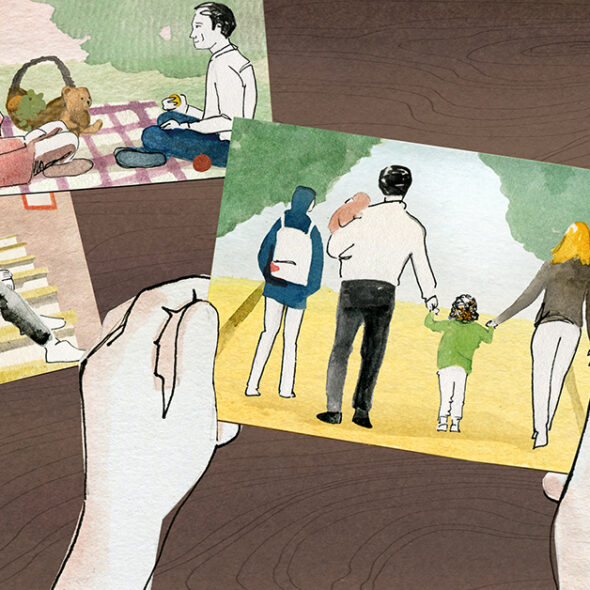 Webseiten-Illustration für den Bereich Family-Backup.