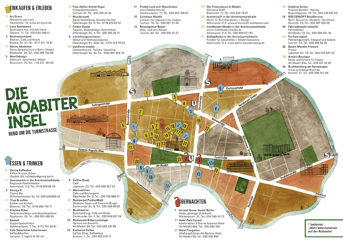 Illustrierte Karte Von Berlin Moabit Sara Contini Frank